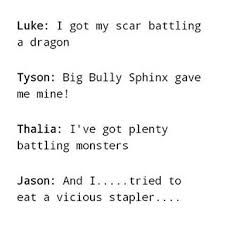 Scar stories. Jason's is the best. xD