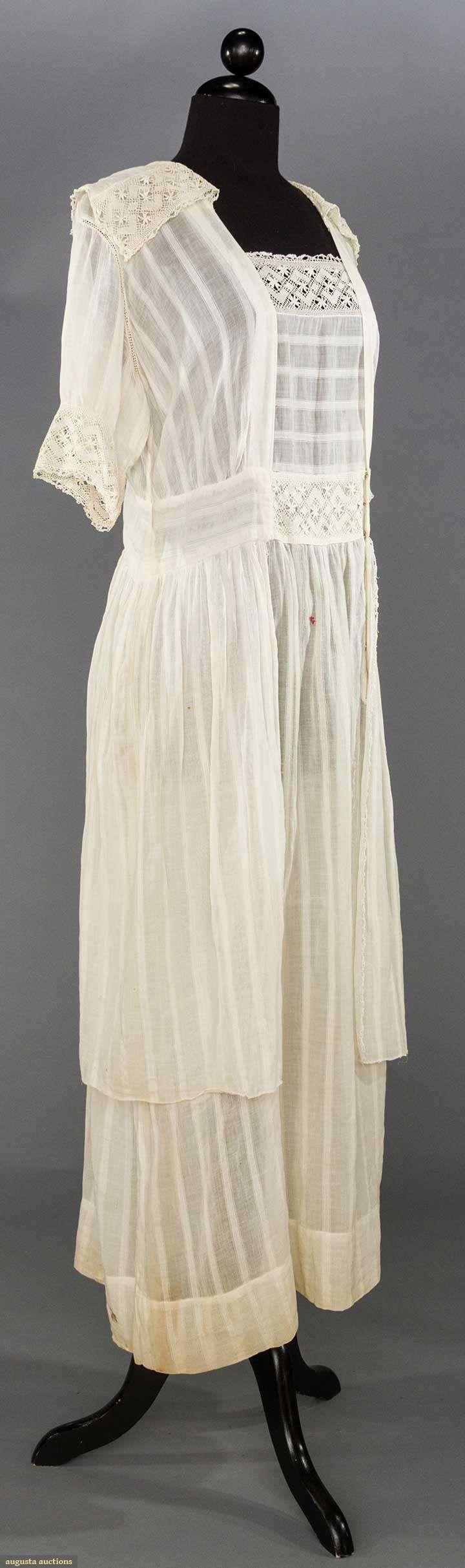WHITE DAY DRESS, 1915-1918  May 9, 2017 - CATALOG SALE Sturbridge, Massachusetts