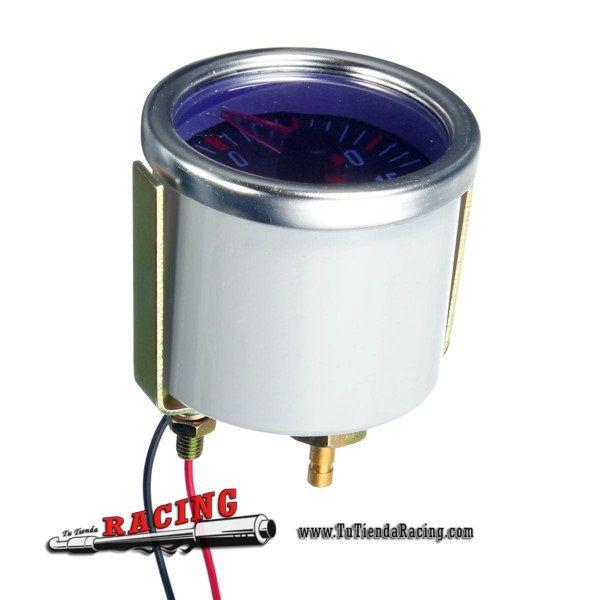 17,12€ - ENVÍO SIEMPRE GRATUITO - Medidor Dial de Vacío Boost para Turbo de Coche Tuning 52mm 2'' con Tubo Varios Colores - TUTIENDARACING
