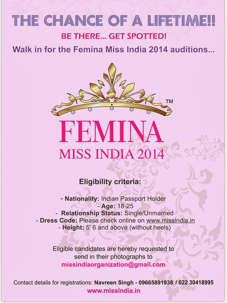 Fashionably Yours: Search for Miss India 2014 begins..