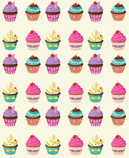 Cupcakes pattern!!  #print #cupcake #print #free #cute
