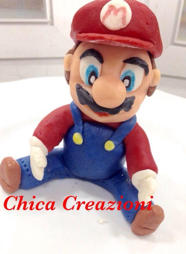 Mario Bros #porcellanafredda #pastadimais #chicacreazione #topcake