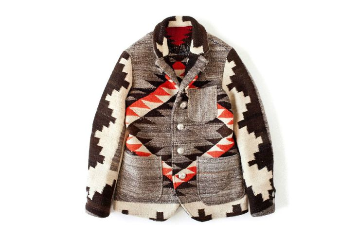 Visvim Navajo Blanket Hoppiland Jacket - great with simple jeans, t-shirt and worn boots.