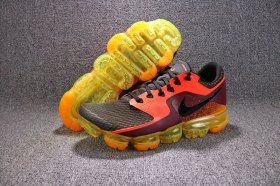 7296c2a746c Nike Air VaporMax Flyknit Total Circuit Orange Black AH9046 800 Mens  Running Shoes Summer Trainers
