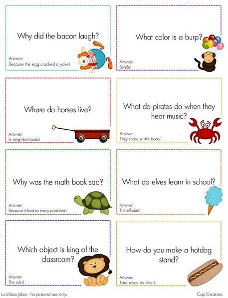 lunch box notes for kids | ... list of lunchbox free downloads at Making Memories with Your Kids