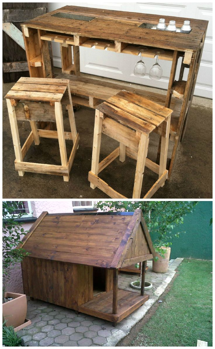 Wooden transport pallets have become increasingly popular for diy - Made A Wooden Dog Kennel Out Of Crate