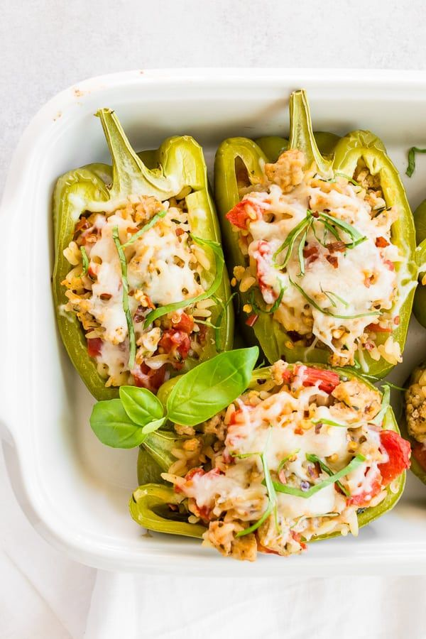 Ground Chicken Stuffed Bell Peppers Recipe In 2020 Stuffed Peppers Stuffed Bell Peppers Ground Chicken