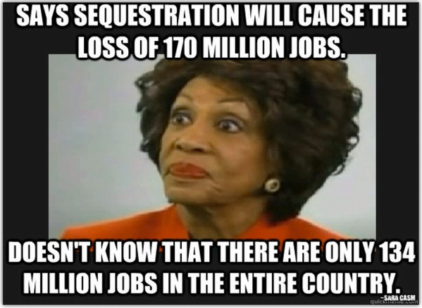 Some more craziness from Maxine Waters.