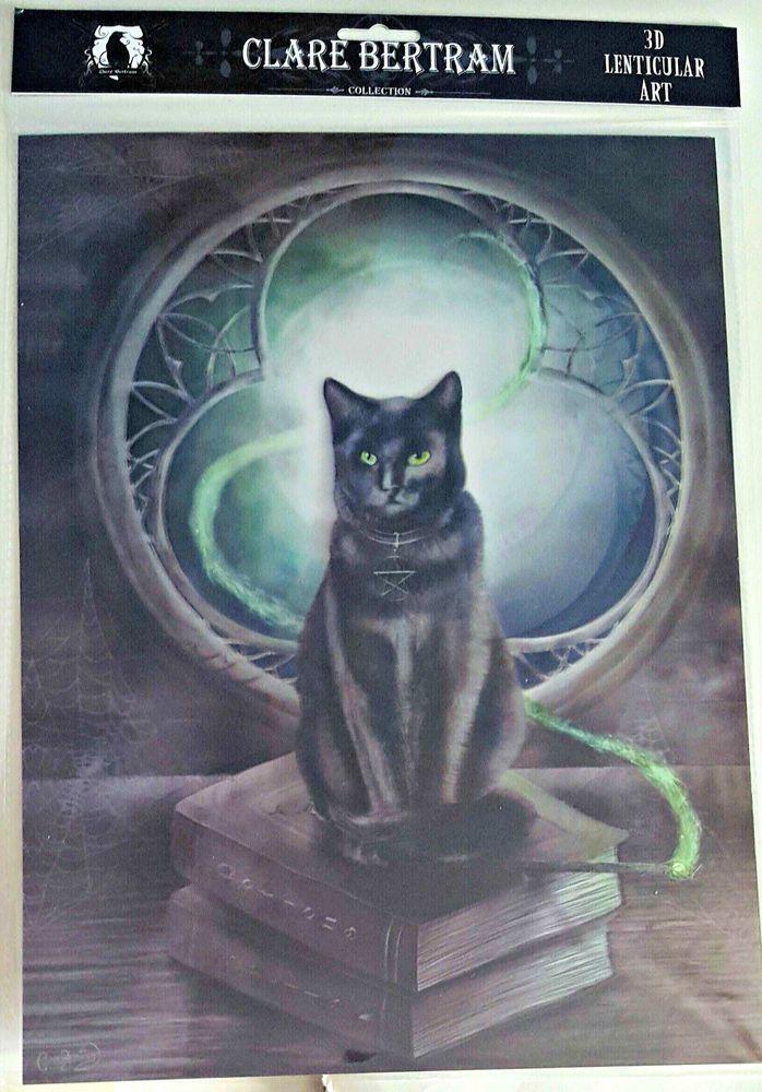 Brand New Licensed 3D Lenticular Art Clare Bertram A Familiar Cat Animal Print