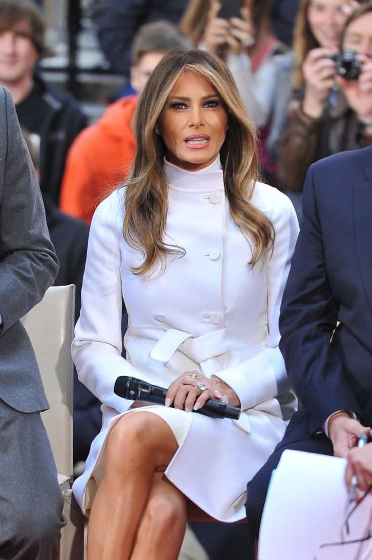 NEW YORK, NY - APRIL 21:  Melania Trump attends NBC's Today Trump Town Hall at Rockefeller Plaza on April 21, 2016 in New York City.  (Photo by D Dipasupil/FilmMagic) via @AOL_Lifestyle Read more: http://www.aol.com/article/lifestyle/2016/11/10/melania-trump-style-/21603454/?a_dgi=aolshare_pinterest#fullscreen