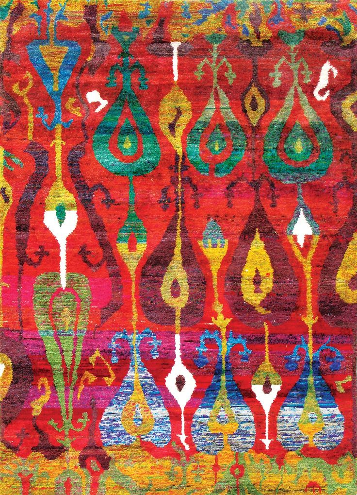 I'm absolutely a huge fan of Sari silk. I use it all the time in my jewelry making. Here's a rug! Rugsville New Ethos Sari silk rug collection made from recycled sari silk