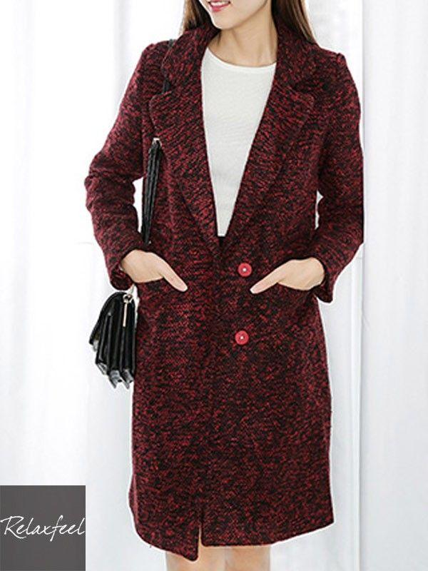 Relaxfeel Women's Big Lapel Long Sleeve Single-Breasted Long Coat - New In