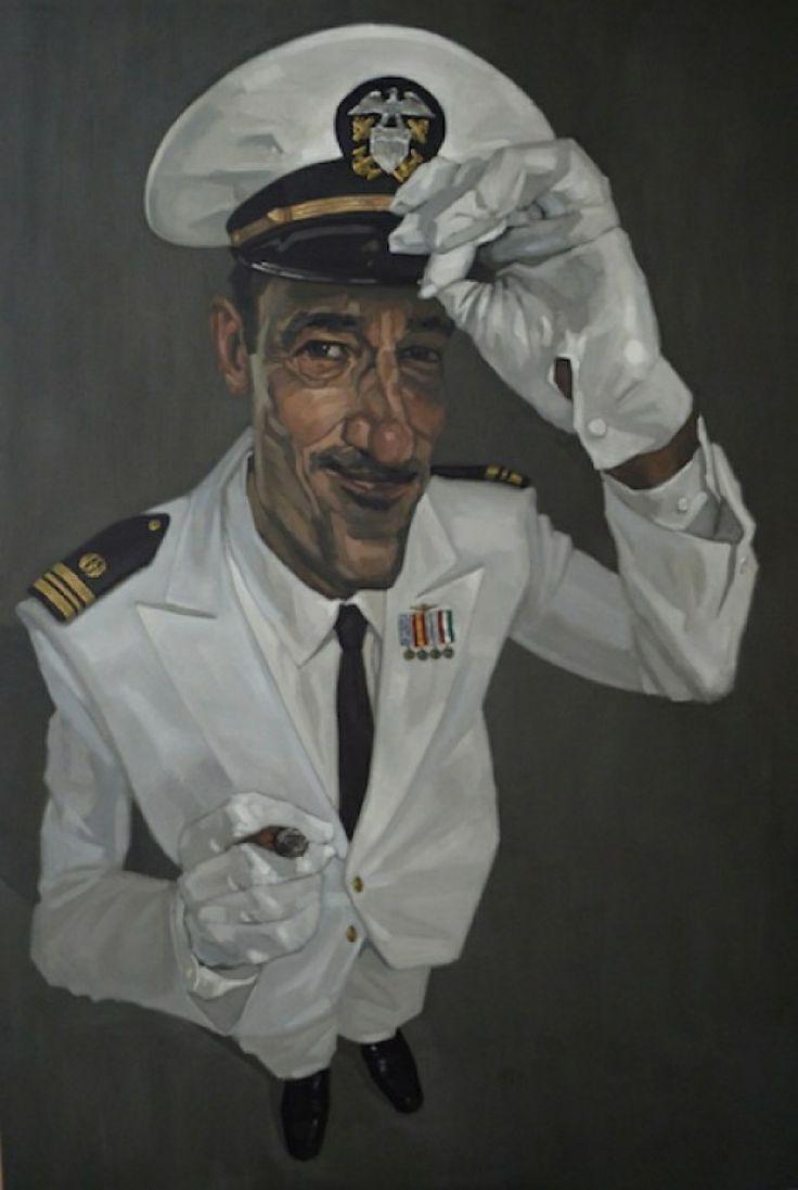 Lieutenant commander Harris, oil on canvas, 2014, cm 195x130