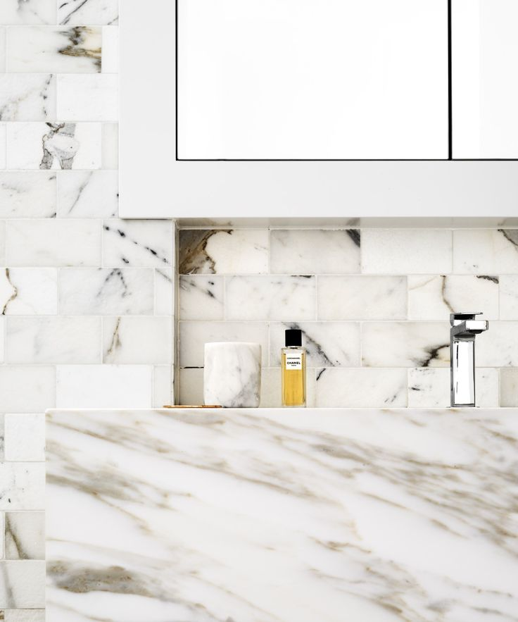 Interiors | alwill  #bathroom #interiors #monochrome #marble #vanity
