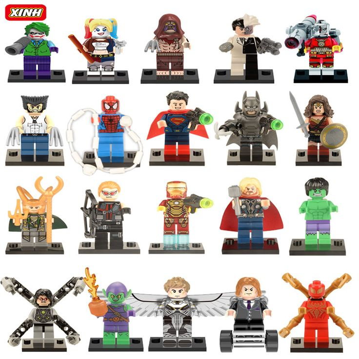 Single Sale Minifigures Sale Marvel Super Hero Avengers Iron Man Batman Deadpool Building Blocks Model Bricks Toys