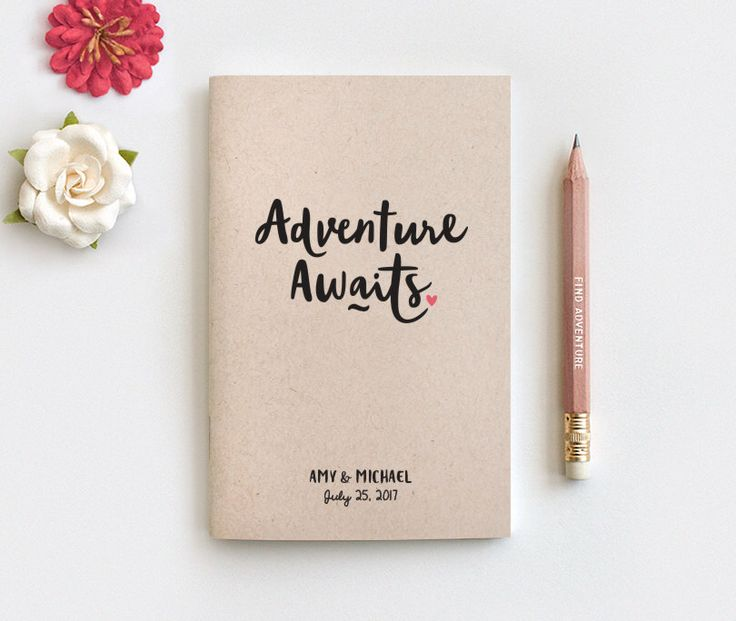 Travel Gift Vouchers Wedding Gifts: Adventure Awaits Personalized Travel Journal & Pencil