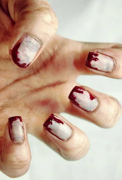 (Eww, Zombie Nails) 9 Fun Halloween Nail Art Ideas