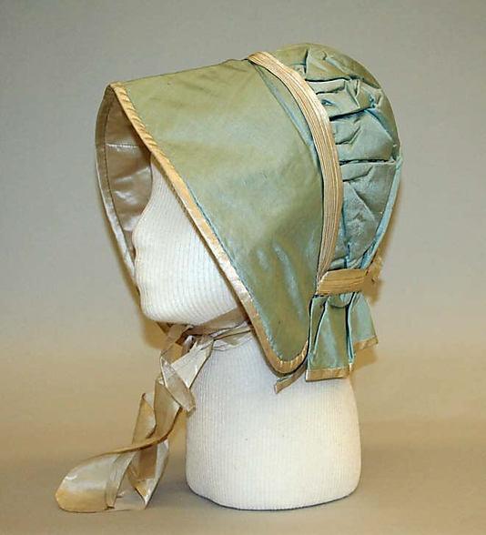 Bonnet American or European ca. 1800s