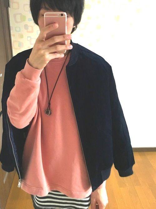 こんにちは😊 WEGOで見つけたトレーナーピンクが好きなので買いました! サイドにポケットついてて
