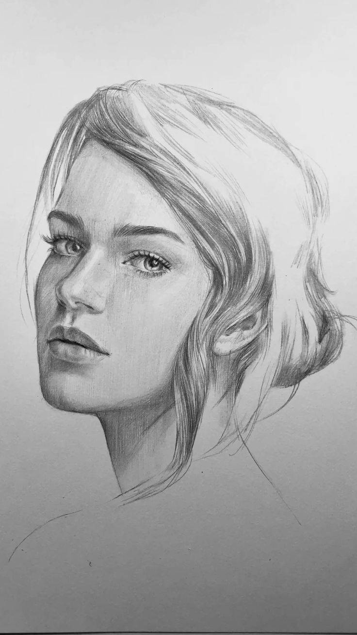 Interior Design Easy Drawing: Freehand Drawing Portrait By Nadia Coolrista #drawing