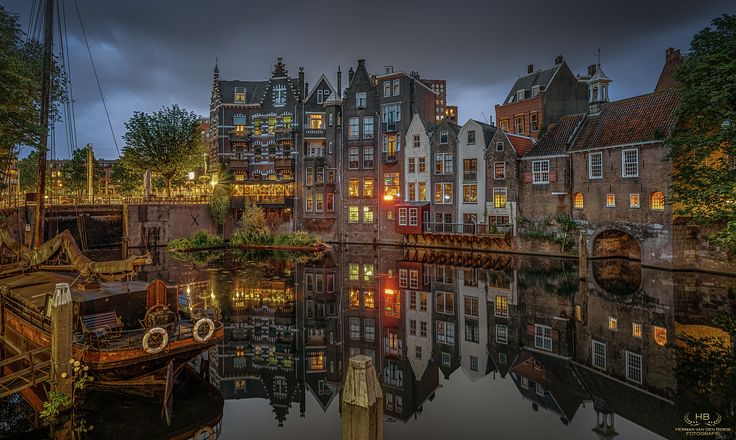 Survived - Delfshaven was one of the few places in Rotterdam that survived the devastating heavy bombardments during World War II............ This image is a HDR made from 5 brackets. The EXIF is from the middle exposure.
