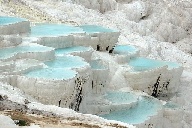PAMUKKALE-TURKEY   via Flickr: Nature, Pamukk Turkey, Travertine Hot, Rocks Pools, Place, Pamukkal Turkey, Minerals, Hot Spring, Destination