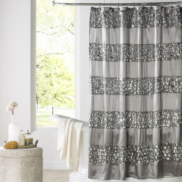 You Ll Love The Brunilda Bedazzled Bling Fabric Shower Curtain At