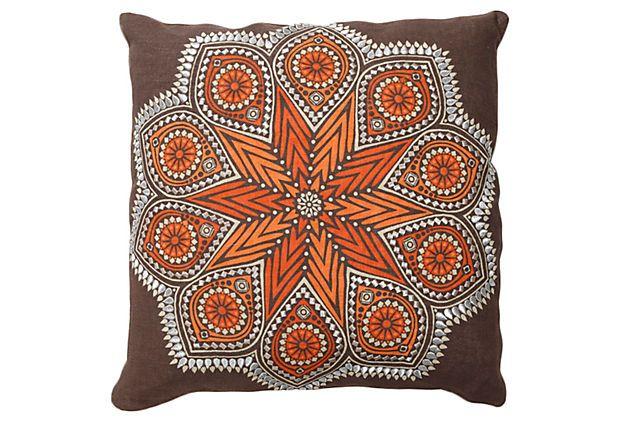 Kaleidoscope: Northern, Kaleidoscopes Pillows, Living Rooms, Linen Pillows, Linens Pillows, Beautiful Ideas, 18X18 Linens, 18X18 Pillows, Kaleidoscopes 18X18