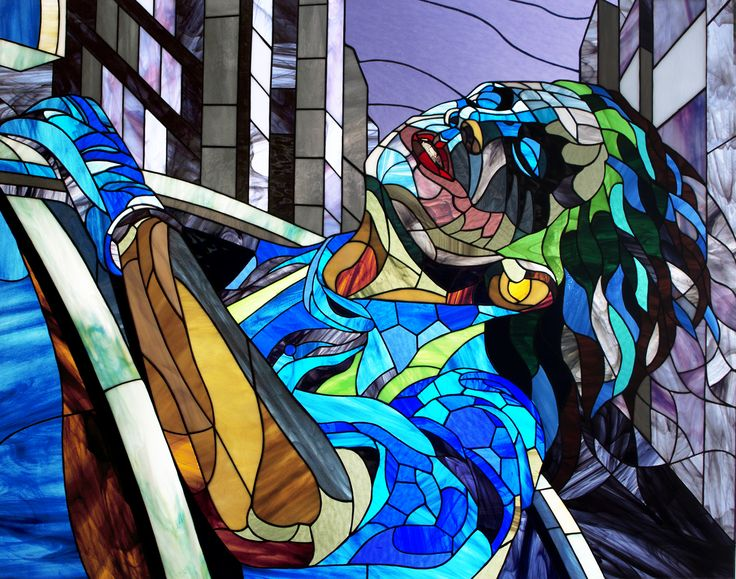 Joker in euphoria . Photos stained glass pictures in the Tiffany technique https://www.etsy.com/ru/listing/263949190/joker-in-euphoria-photos-stained-glass?ref=listing-shop-header-1 #stainedglass # #joker #dc #dccomics #comics  #glassart #art #artbrothers #витраж #magnet #gift