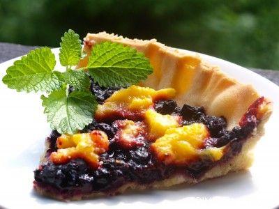 Blåbær- og mangoterte - TRINEs MATBLOGG
