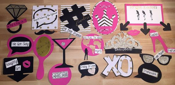 Beyonce Themed Photo Props 20 Pieces Perfect by TheClevahCraft
