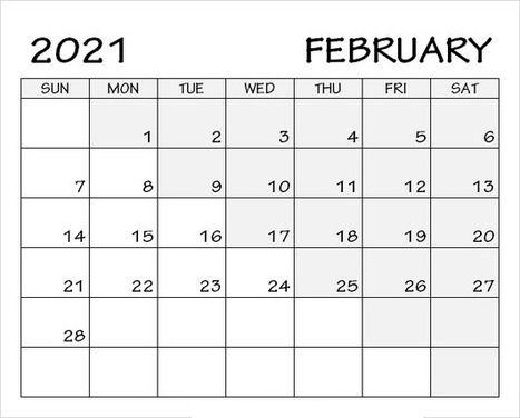 February 2021 Calendar With Holidays - Printable Calendar ...