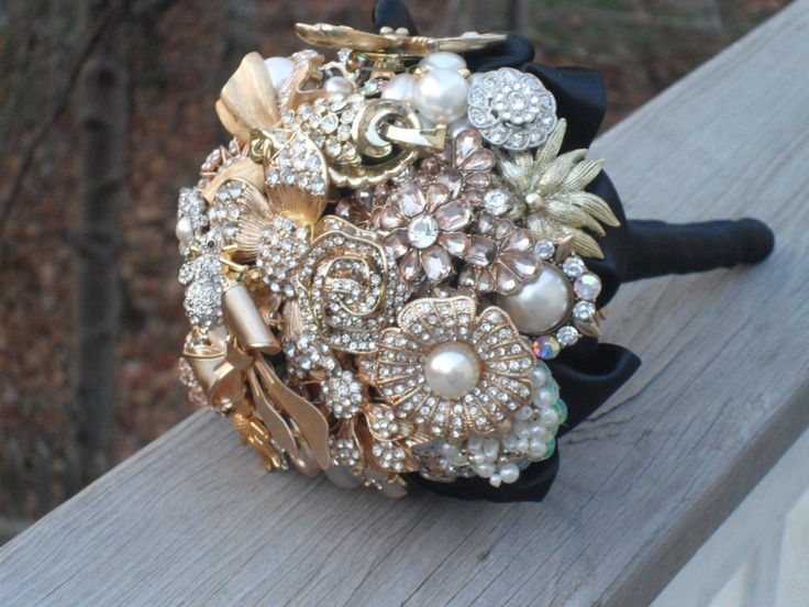 Brooch and Jeweled Bouquet