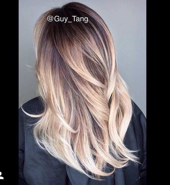 Ash beige blonde ombré by Guy Tang