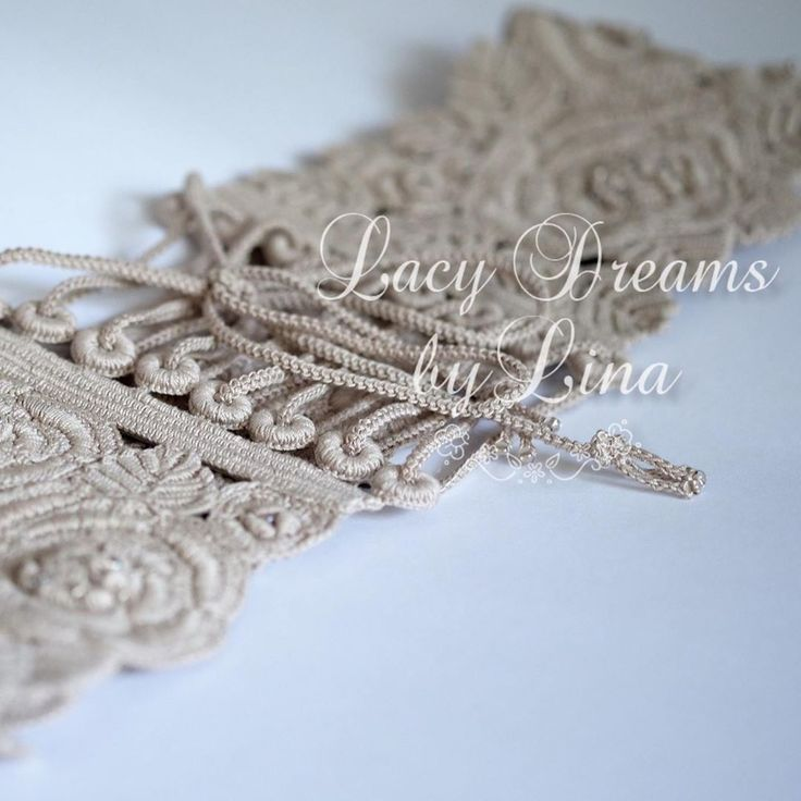 #irish #lace #crochet #belt #handmade