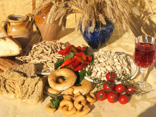 The food festival gives the chance to try local products from the Salento area
