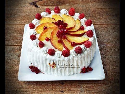 Tort cu fructe si crema de vanilie--Retetele mele dragi - YouTube
