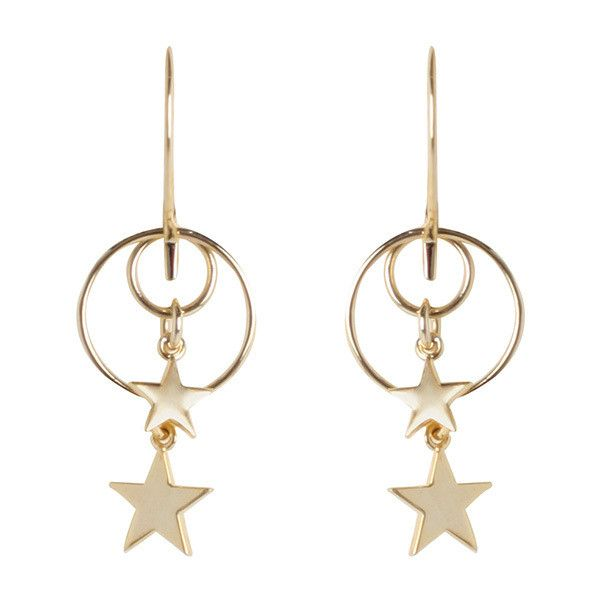 ZIMMERMANN Double Ring Star Hook Earring ($280) ❤ liked on Polyvore featuring jewelry, earrings, circle pendant, earring pendants, pendant jewelry, earring jewelry and summer earrings