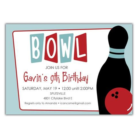 7 best Bowling Party Inspiration images on Pinterest Backyard - bowling invitation