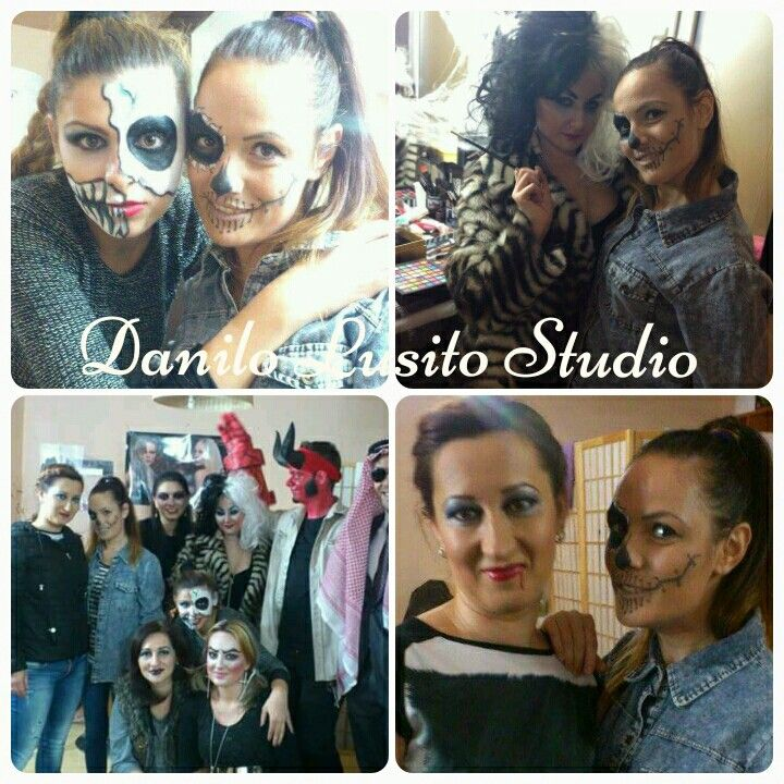 #makeup #machiajdehalloween #danilolusitostudio #saturdaynight #cruelladevil #halloweenmakeup