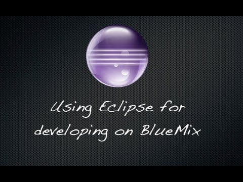 Using the Eclipse client for editing BlueMix projects on Git Jazz Hub