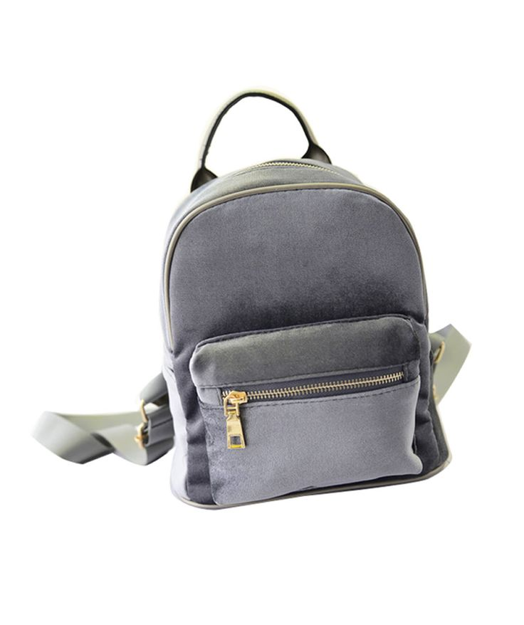 2016 New Women Student Fashion Winter Velvet Backpack Good Quality Patchwork Zipper Casual Small Mini Girl School Preppy Style