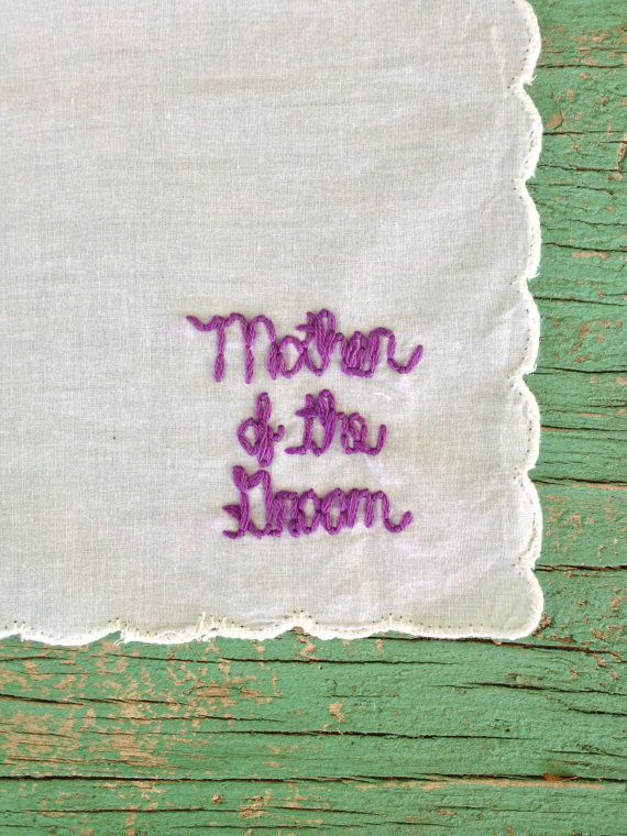 Mother Wedding Gift Hand Sewn Hanky on Etsy, $20.00