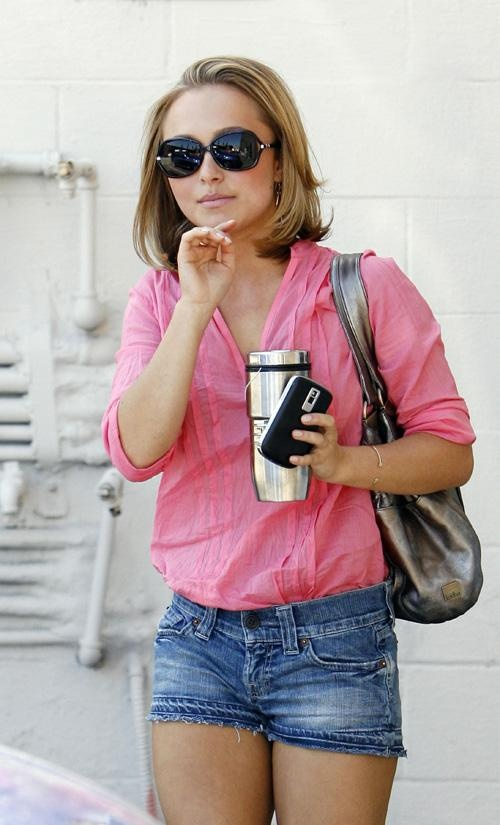 In love with Hayden Panettiere's short hair and casual style!