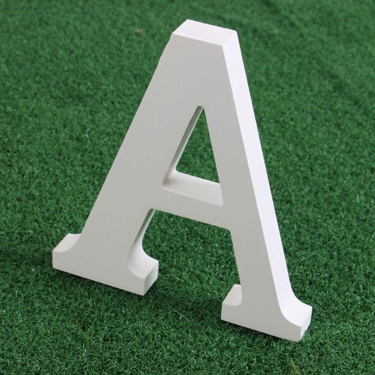 """Wishwin Bianche grandi lettere in legno casalinghi Mobili 5.9 """"A-Z: Amazon.it: Casa e cucina"""