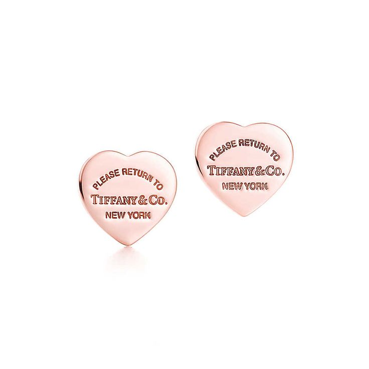 Return To Tiffany Mini Heart Earrings In Rubedo Metal Co