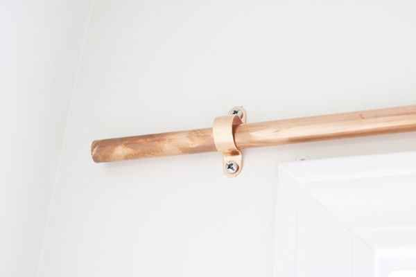 Make new curtain rods out of copper pipes and fittings.