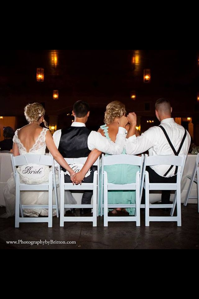 Bride and groom with maid of honor/ best man
