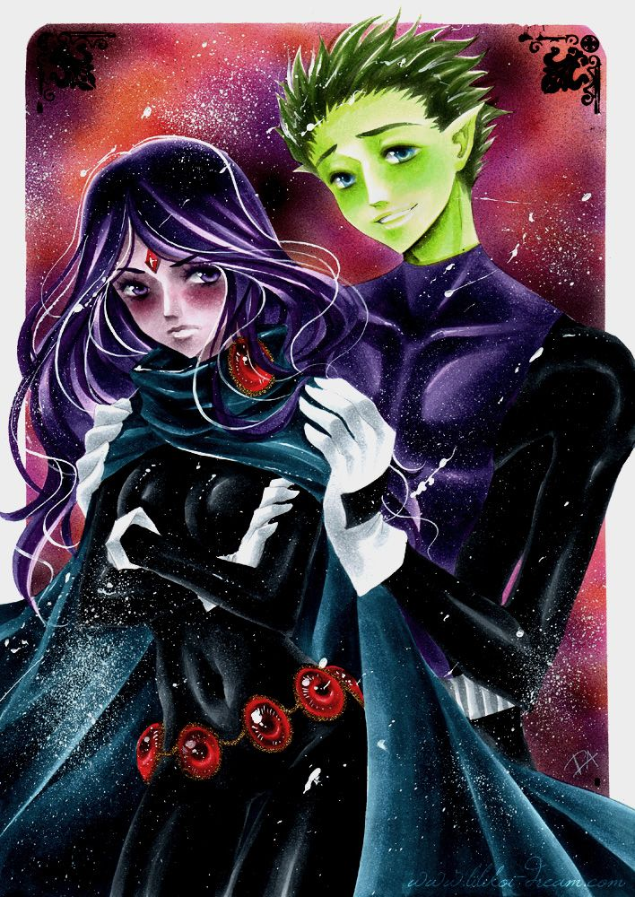 pictures of raven anime | Teen Titans couples!!!! Beast Boy x Raven