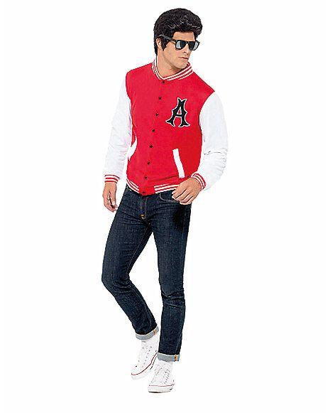 50s Jock Letterman Jacket Adult Mens Costume - Spirithalloween.com